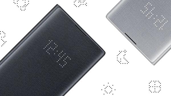 【免運費】SAMSUNG Galaxy Note10+ 原廠LED皮革翻頁式皮套( 黑)