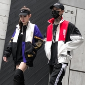 飛行外套春秋棒球外套男正韓運動嘻哈撞色外套班服學生潮流寬鬆情侶裝夾克