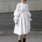 長袖洋裝-不規則大裙擺寬鬆純色女連身裙2色73yh24【巴黎精品】