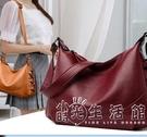 走牛皮女包中年媽媽包包女220新款韓版女士婆婆大容量單肩手提包 小時光生活館
