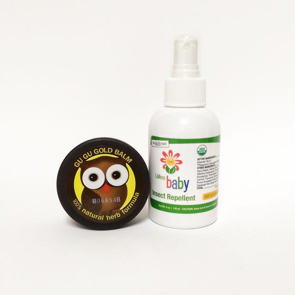 Lafe's organic嬰兒有機防蚊液+咕咕黃金膏 組合價.-超級BABY