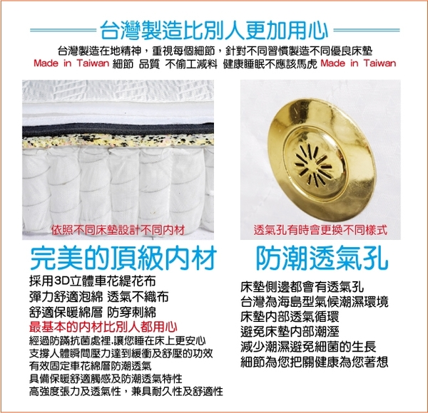 床墊 獨立筒 睡芝寶-正四線 乳膠 竹碳紗抗菌防潑水-護邊蜂巢獨立筒床墊-單人3.5尺(厚26m)$11999