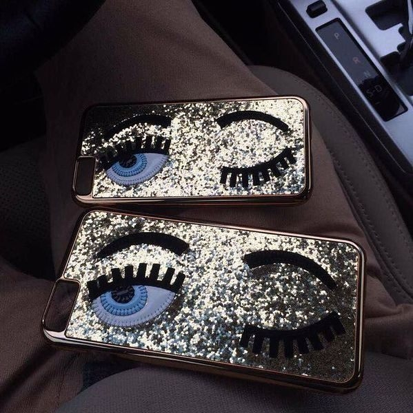 King*Shop~iphone6手機套MlSS Gossip法國潮牌眨眼睛蘋果6plus 保護套bling~