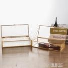 簡約復古金邊玻璃首飾盒歐式珠寶收納盒抖音婚禮伴手禮展示擺件  聖誕節免運