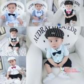 西裝禮服 兒童男寶西裝夏裝網紅可愛男百天連身薄款一周歲夏天衣服禮服寶寶 2色
