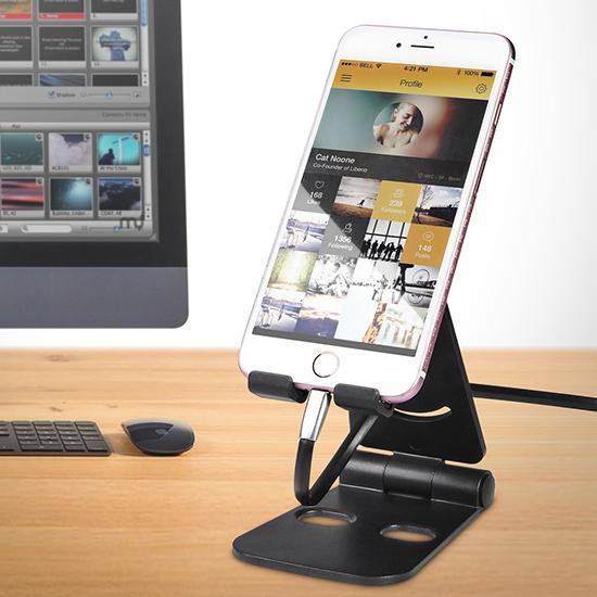 手機架 平板支架 手機座 攜帶型 充電底座 懶人支架  追劇神器 雙摺疊手機支架 【J111】MY COLOR