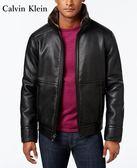 【BJ.GO】Calvin Klein Men's Pebble Faux-Leather Jacket  美國CK立領內毛絨皮革夾克 新品現貨