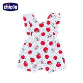 chicco-蘋果-滿版印花荷葉背心短褲