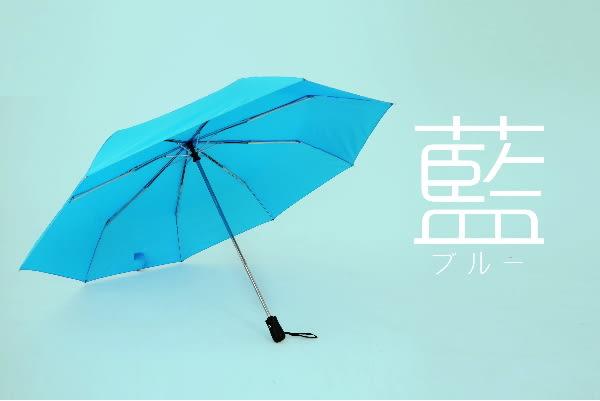超大137公分素面自動開收晴雨傘-雙人傘親子傘-防風傘-水藍色