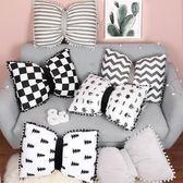 抱枕被子兩用 可愛蝴蝶結抱枕毯子兩用北歐INS床頭靠墊抱枕被 韓慕精品 IGO