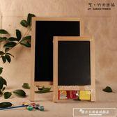 兒童畫板畫架套裝實木留言寫字板雙面臺式家用小黑板支架式廣告版igo『韓女王』