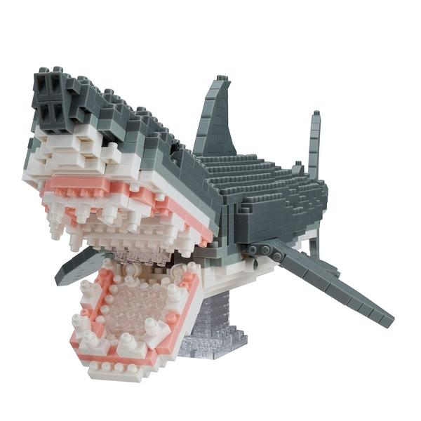 《 Nano Block 迷你積木 》 NBM_027大白鯊DX╭★ JOYBUS玩具百貨