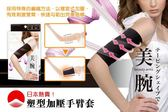 【NF70塑型加壓手臂套】日本熱賣!螺旋式壓力 美化手臂線條 壓力手臂套