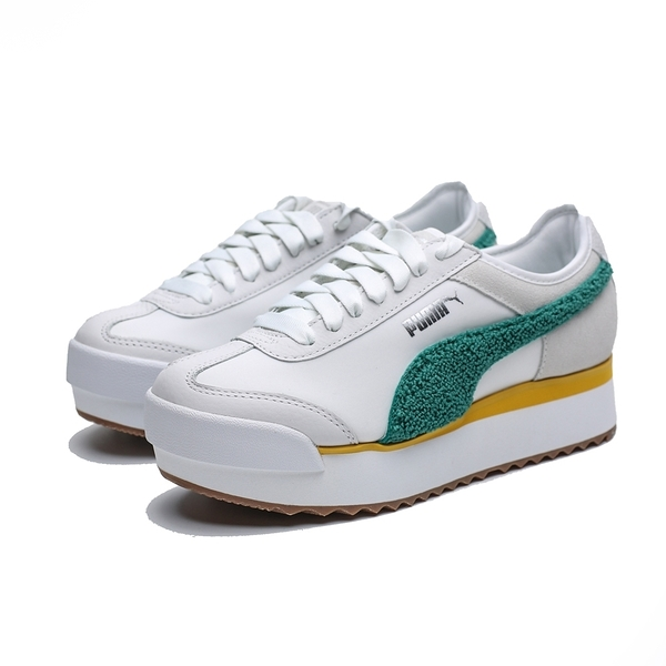 PUMA ROMA AMOR HERITAGE WN'S 米白 綠絨 黃 增高 休閒鞋 女 (布魯克林) 37094704