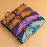 卷筆袋筆簾復古卡通簡約時尚男女生文具袋文具盒筆袋「Top3c」