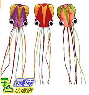 [106美國暢銷兒童軟體] Hengda Kite-Pack 3 Colors Beautiful Large Easy Flyer Kite for Kids-software