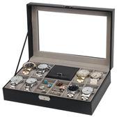 手錶首飾包裝盒8位手錶2格戒指多功能收納展示盒手錶戒指首飾【新店開張8折促銷】