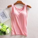 吊帶背心女莫代爾抹胸帶胸墊裹胸薄款內衣運動瑜伽打底夏季文胸式