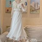雪紡半身裙超仙女飄逸溫柔閃閃光澤網紅金絲雪紡顯瘦8米大擺長裙半身裙紗裙特賣