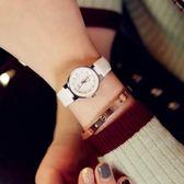 韓版國石英男女士學生簡約手表皮帶情侶表女表時尚男表wy 快速出貨 全館八折