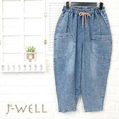 J-WELL 趣味口袋薄牛仔褲 8P8276