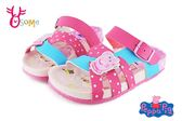 Peppa Pig佩佩豬 女童涼鞋 防水休閒拖鞋 台灣製造 中童F5276#粉◆OSOME奧森童鞋