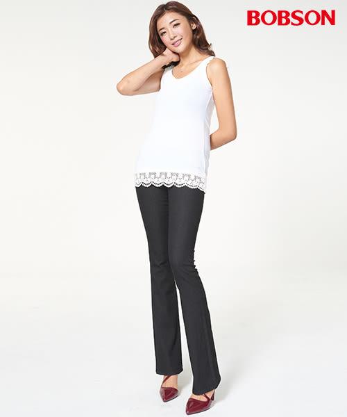 BOBSON 女款超低腰伸縮小喇叭褲(942-88)