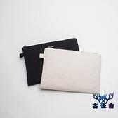 帆布收納袋純棉手拿包內膽包包中包時尚簡約個性【古怪舍】