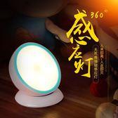 實智小夜燈插電充電led聲光控床頭燈節能燈人體感應臥室嬰兒喂奶     智能生活館
