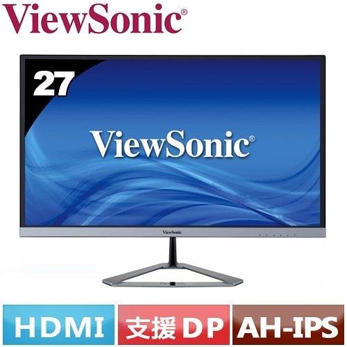 全新優派 VIEWSONIC  VX2776-smhd 27型 AH-IPS 薄邊框電腦螢幕