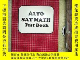 二手書博民逛書店ALTO罕見SAT MATH TEST BOOK 高考數學試題Y203004