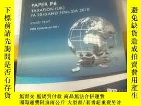 二手書博民逛書店ACCA罕見PAPER F6 TAXATION[UK] FA 2