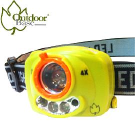 【Outdoorbase 鷹眼 輕巧感應式 頭燈 5段 】21720/感應式頭燈