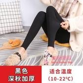 內搭褲 保暖灰色秋冬季莫代爾打底褲女外穿九分加絨加厚內穿秋褲大碼 3色