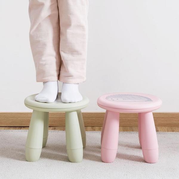 卡通加厚兒童凳子可愛動物矮凳換鞋凳家用塑料防滑寶寶圓凳小板凳