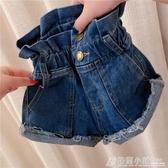 夏季新款女童牛仔短褲女寶寶洋氣潮時尚復古高腰牛仔熱褲6532 萬聖節鉅惠