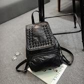 後背包-鉚釘韓版時尚大方旅行女雙肩包73fd16[時尚巴黎]