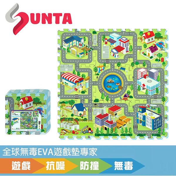 【佳兒園婦幼館】SUNTA EVA創意拼接樂扣墊-歡樂城市 32x32x1cm (9片裝)