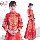 秀禾服新娘新款女敬酒服大碼中式婚紗禮服出閣服結婚秀和服冬