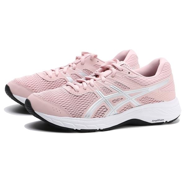 ASICS 慢跑鞋 GEL CONTEND6 粉紅 粉銀 透氣 休閒 女 (布魯克林) 1012A570702