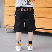 男童短褲 男童短褲七分褲夏薄款兒童褲子黑色夏款小童工裝寬鬆夏季純棉中褲-Ballet朵朵