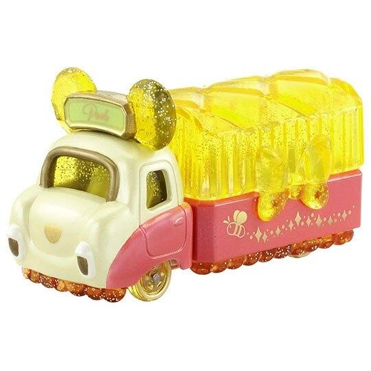 〔小禮堂〕迪士尼 小熊維尼 TOMICA小汽車水晶卡車《黃紅》珠寶車.公仔.玩具.模型 4904810-13433
