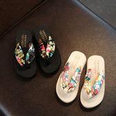 韓版夏季親子夾腳涼拖鞋女童防滑人字拖平跟波西米亞兒童沙灘拖鞋【居享優品】