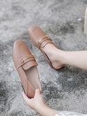 樂福鞋-單鞋女新款豆豆鞋仙女風晚晚鞋平底英倫風大碼一 『洛小仙女鞋』