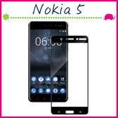 Nokia5 5.2吋 滿版9H 鋼化玻璃膜 絲印 黑色 螢幕保護貼 全屏鋼化膜 全覆蓋保護貼 防爆 (正面)