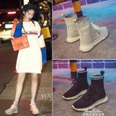 女鞋夏季彈力襪子鞋內增高韓版休閒運動鞋嘻哈高筒鞋 『夢娜麗莎』