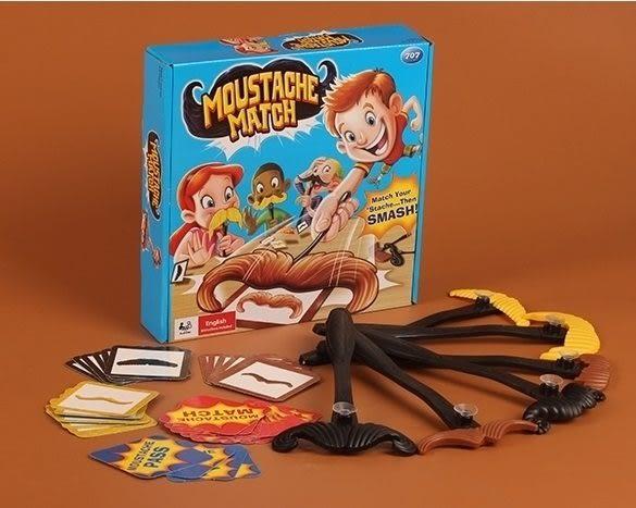*粉粉寶貝玩具*桌遊~鬍子配對遊戲~搶鬍子配對比賽~簡單有趣的遊戲~親子互動玩具