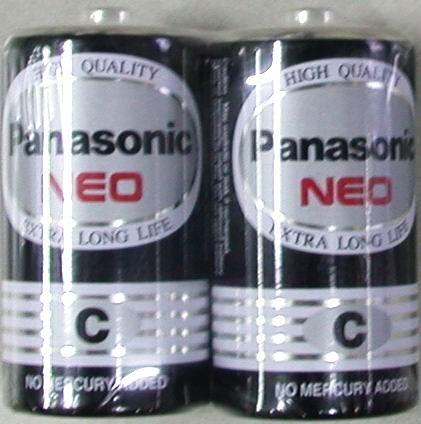 國際牌碳鋅電池2號2入