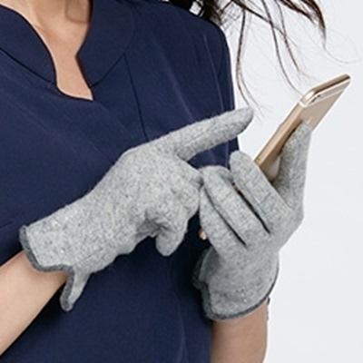 觸控羊毛女手套-韓版可愛小燙鑽防寒保暖時尚配件三色72h22[巴黎精品]