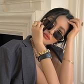 搞怪眼鏡女網紅墨鏡拍照ins大臉顯瘦歐美復古潮抖音方形太陽鏡男 韓美e站